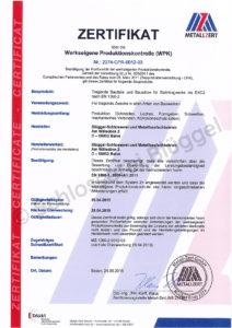 Zertifikat-Produktionskontrolle